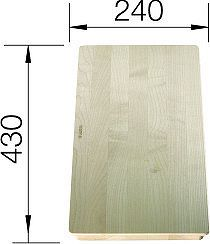 BLANCO doska drevo MEVIT XL 6 S