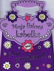 Moja fialová kabelka plná samolepiek