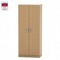 TEMPO KONDELA 2-dverová skriňa, vešiaková, poličková, buk, BETTY 2 BE02-003-00