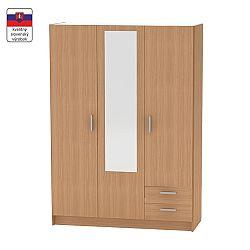 TEMPO KONDELA 3-dverová skriňa, buk, BETTY 7 BE07-001-00