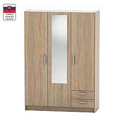 TEMPO KONDELA 3-dverová skriňa, dub sonoma, BETTY 7 BE07-001-00