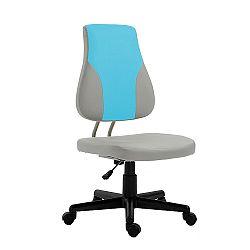 TEMPO KONDELA Detská rastúca stolička, sivá/modrá, RANDAL