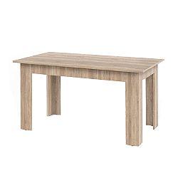 TEMPO KONDELA Jedálenský stôl, dub sonoma, 140x80, GENERAL