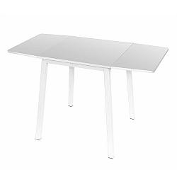 TEMPO KONDELA Jedálenský stôl, MDF fóliovaná/kov, biela, MAURO