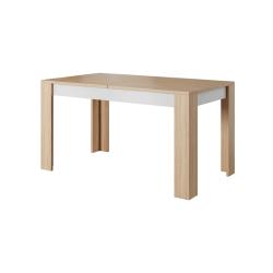 TEMPO KONDELA Jedálenský stôl rozkladací, betón/dub jantár/biely mat, LAGUNA