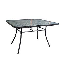 TEMPO KONDELA Jedálenský stôl, tvrdené sklo/oceľ, PASTER NEW