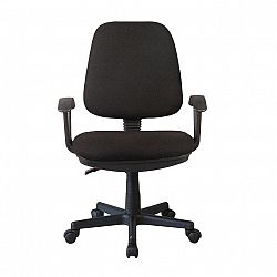 TEMPO KONDELA Kancelárska stolička, čierna, COLBY