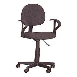 TEMPO KONDELA Kancelárska stolička, čierna, TC3-227