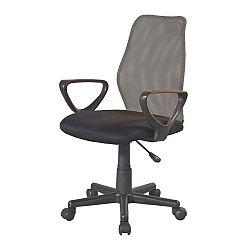 TEMPO KONDELA Kancelárska stolička, sivá/čierna, BST 2010