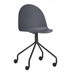 TEMPO KONDELA Kancelárska stolička, tmavosivá/čierna, BRUNA