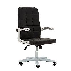 TEMPO KONDELA Kancelárske kreslo, biela/čierna, ZARGO