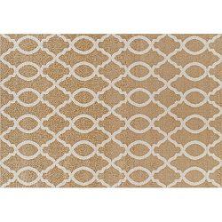 TEMPO KONDELA Koberec, béžová/vzor v slonovinovej, 160x235, NALA