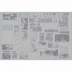 TEMPO KONDELA Koberec, viacfarebný, 133x190, HEATHER