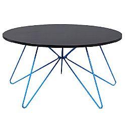 TEMPO KONDELA Konferenčný stolík, čierny dub/modrá, MIKKEL