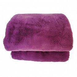 TEMPO KONDELA Kožušinová deka, fialová, 150x180, RABITA NEW TYP 6