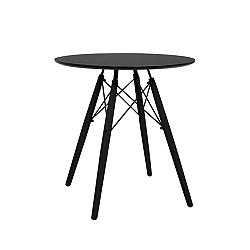 TEMPO KONDELA Okrúhly jedálenský stôl, čierna, MONTY