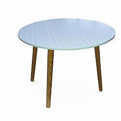 TEMPO KONDELA Príručný stolík, sivá/nohy prírodná, HANSON