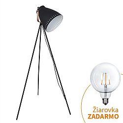 TEMPO KONDELA Stojacia lampa, čierna, TORINO WA001-B