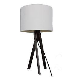 TEMPO KONDELA Stolná lampa, biela/drevo čierne, LILA Typ 4 LS2002