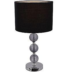 TEMPO KONDELA Stolná lampa, čierna, JADE Typ 7 6467-40