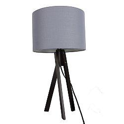 TEMPO KONDELA Stolná lampa, sivá/drevo čierne, LILA Typ 5 LS2002