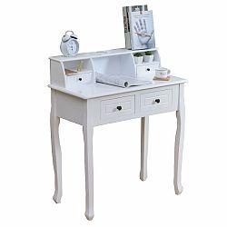 TEMPO KONDELA Toaletný stolík/toaletka, biela, RODES
