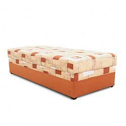 TEMPO KONDELA Váľanda s úložným priestorom, oranžová, 90x200, EMILIA