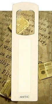 Antická záložka Text krémová - AZ 014