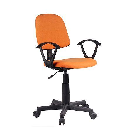 TEMPO KONDELA Kancelárska stolička, oranžová/čierna, TAMSON