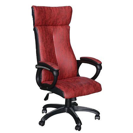 TEMPO KONDELA Kancelárske kreslo, červená/čierna, MERSIN