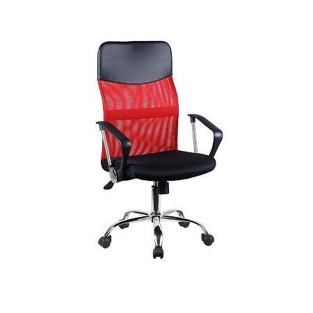 TEMPO KONDELA Kancelárske kreslo, červená/čierna, TC3-973M 2 NEW
