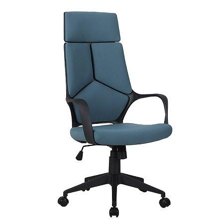 TEMPO KONDELA Kancelárske kreslo, modrá/čierna, BAKARI