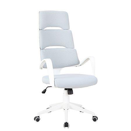 TEMPO KONDELA Kancelárske kreslo, svetlosivá/biela, VISAR