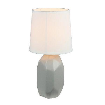 TEMPO KONDELA Keramická stolná lampa, sivá, QENNY TYP 2 AT15556