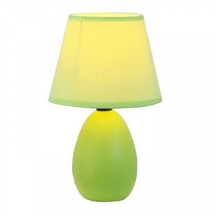 TEMPO KONDELA Keramická stolná lampa, zelená,  QENNY TYP 13 AT09350