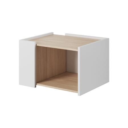 TEMPO KONDELA Konferenčný stolík, dub jantár/biely mat, Luis