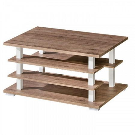 TEMPO KONDELA Konferenčný stolík, san reno / biela, ROVIN R - 10
