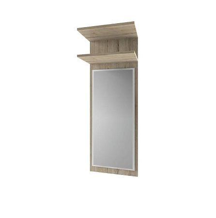 TEMPO KONDELA Panel so zrkadlom, dub san remo, ORESTES 40