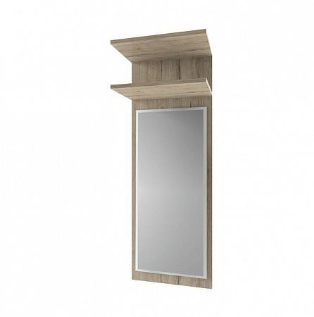 TEMPO KONDELA Panel so zrkadlom, dub san remo, ORESTES 45