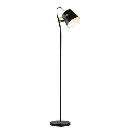 TEMPO KONDELA Stojacia lampa, čierna/bronz, CINDA Typ 3 YF6047