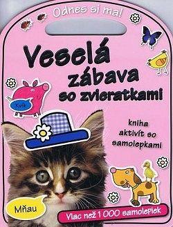 Veselá zábava so zvieratkami - Kniha aktivít so samolepkami